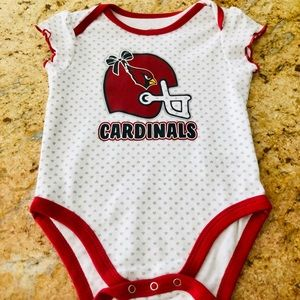 Arizona Cardinals Baby Girls Onesie